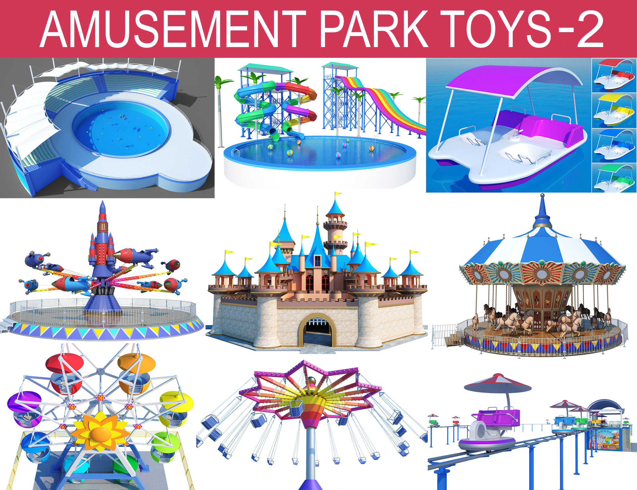 Amusement Park Toys Collection-2