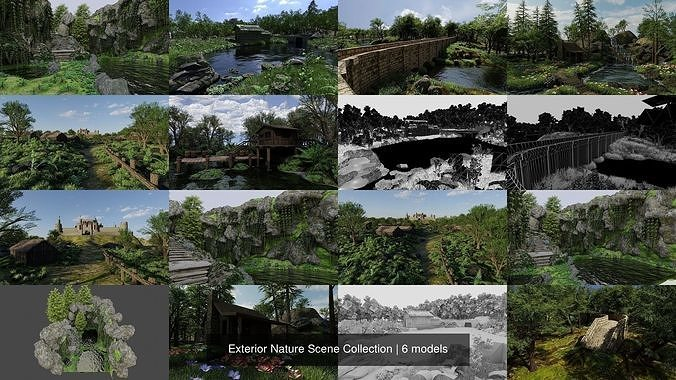 Exterior Nature Scene Collection