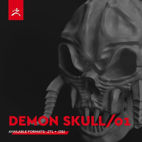 DEMON SKULL 01 by Mike Kobzar