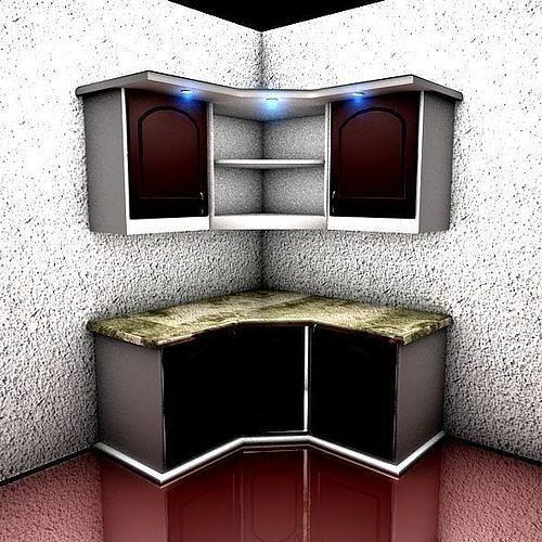 Corner Cabinets of Kitchen