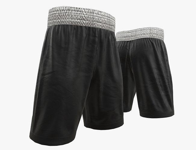 Black boxing shorts