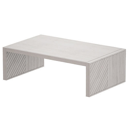Dunewood Whitewashed Coffee Table Crate and Barrel