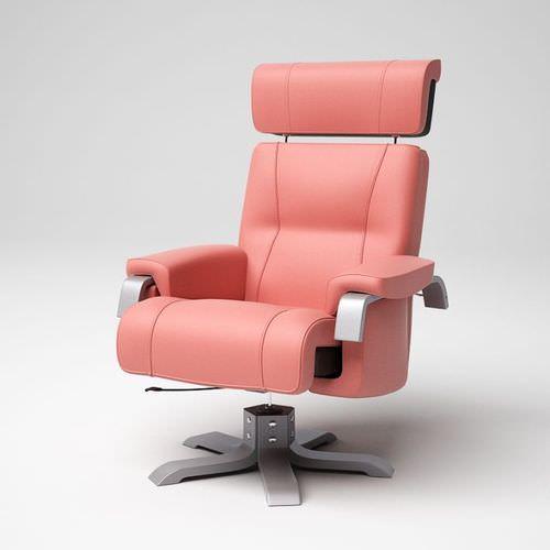 Pink modern office chair 06 am53D model