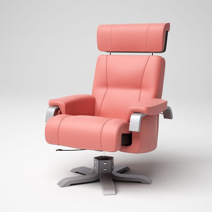 Pink modern office chair 06 am5 3d model cgtrader com
