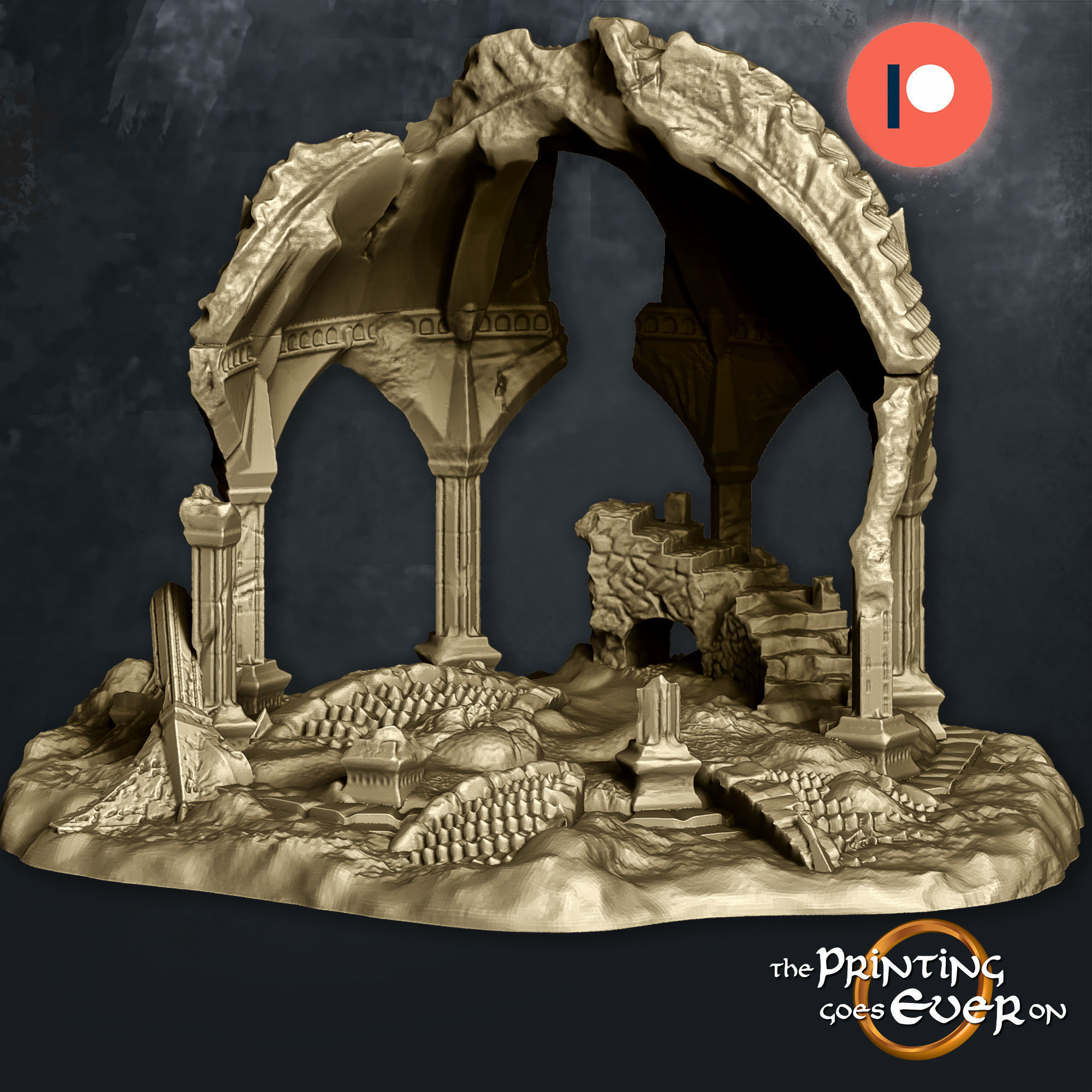 Fehntop Ruins - Supportless Diorama - FDM and Resin