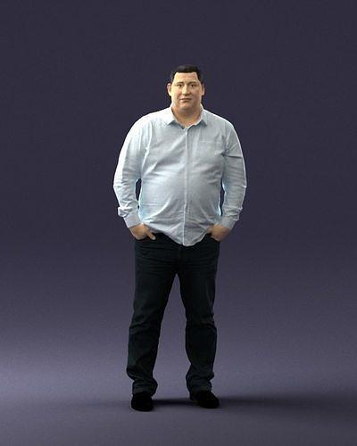 Fat man shirt outside 0498