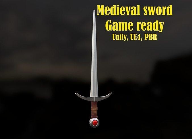 Low-Poly Medieval sword