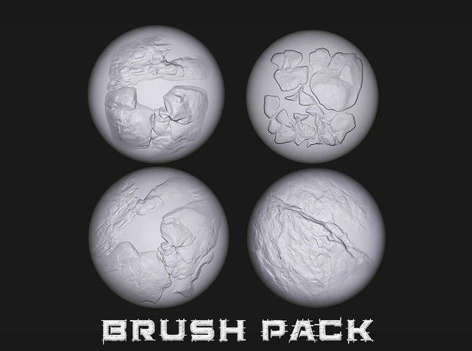 15 Stylized Stone and Cracks Alphas