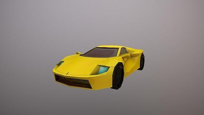 LOW-POLY SPORT CAR