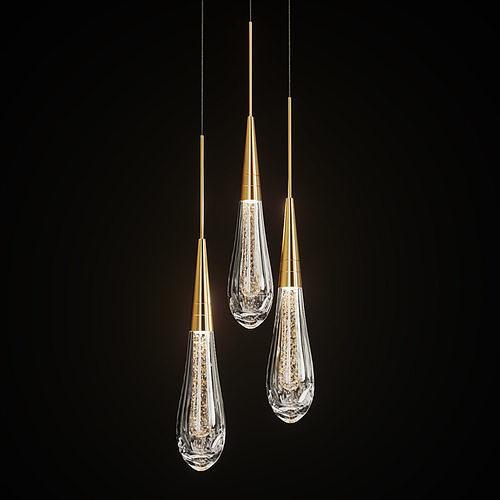Drop shaped pendant lamp FIAL