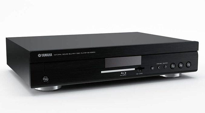 digital dvd blu ray player 31 am77 3d model obj mtl 1