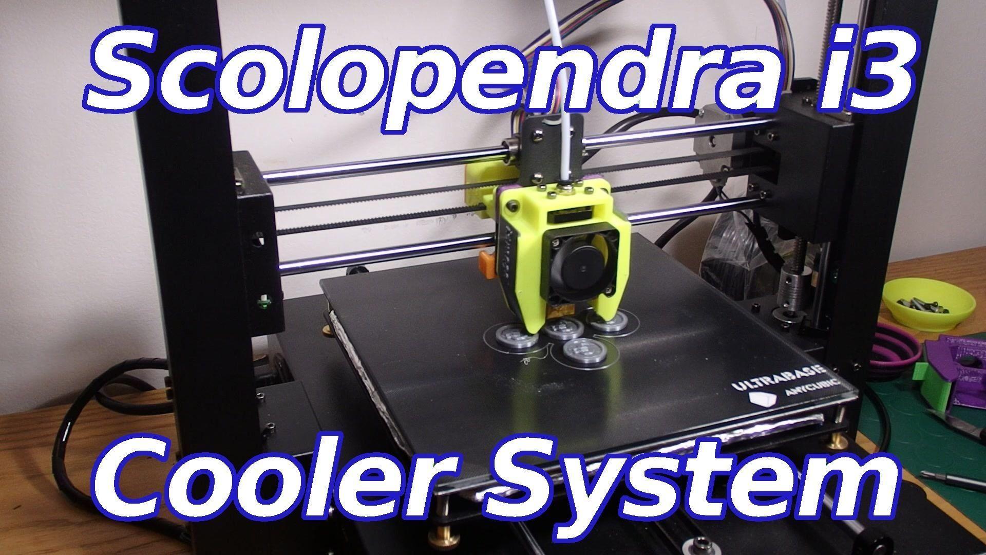 E3Dv5 - Scolopendra i3 Cooler for i3mega and other