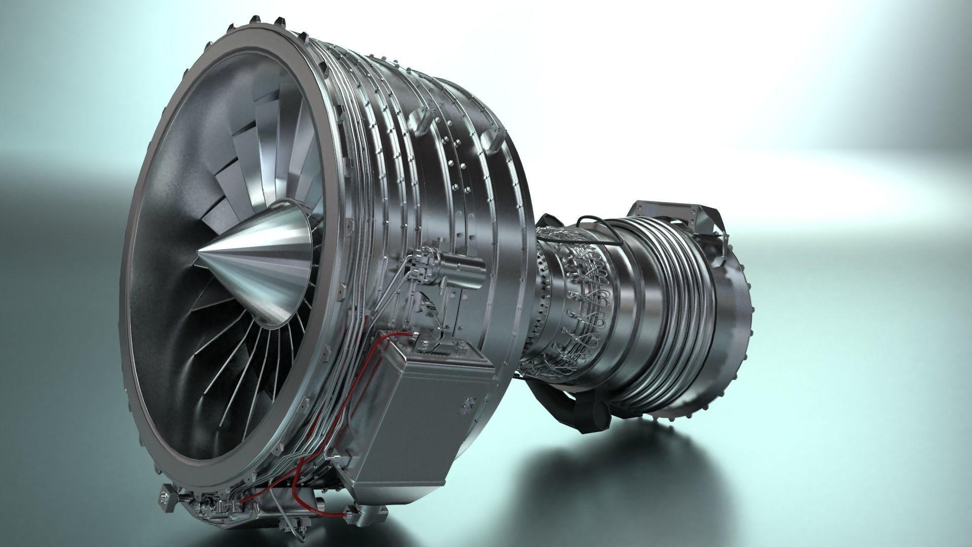 High Detailed Turbo fan CFM56