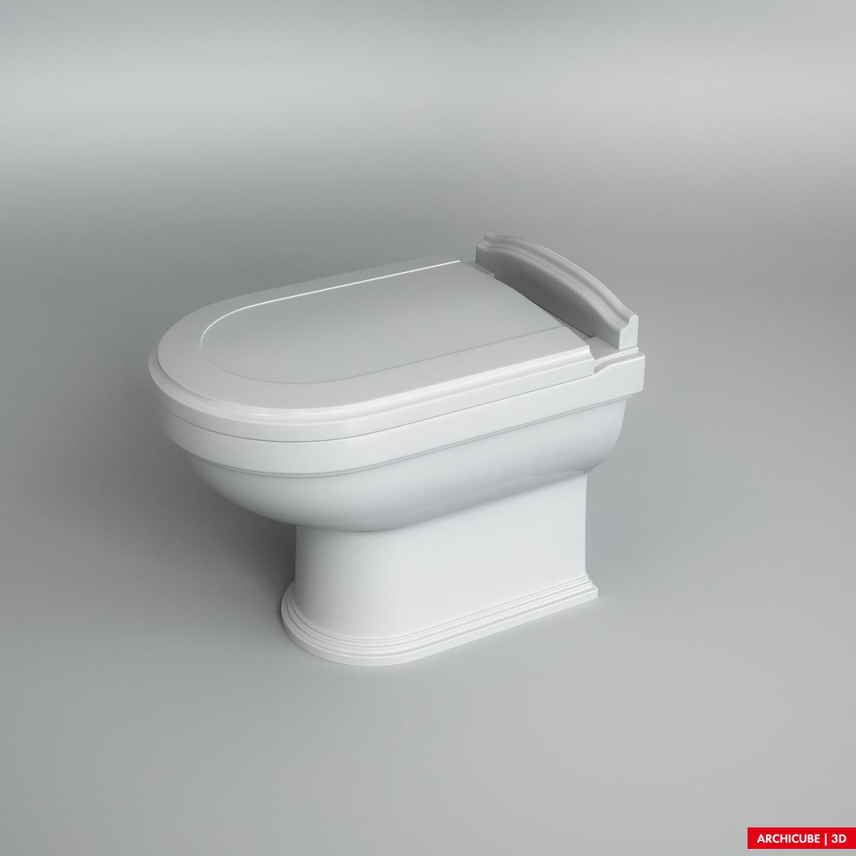 Toilet wc 02 3d model max obj fbx - Wc model ...