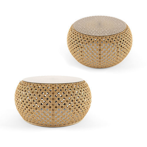 Rattan coffee table 80 Esther