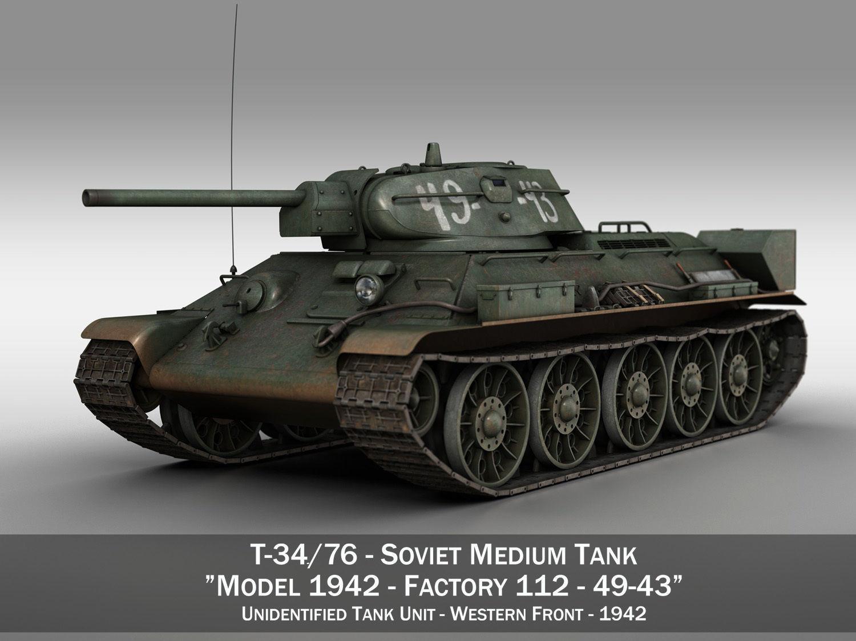 T-34-76 - Model 1942 - Soviet medium tank - 49-43