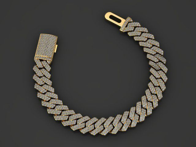 12 MM MIAMI CUBAN LINK CHAIN DIAMOND FOR BRACELET OR NECKLACE
