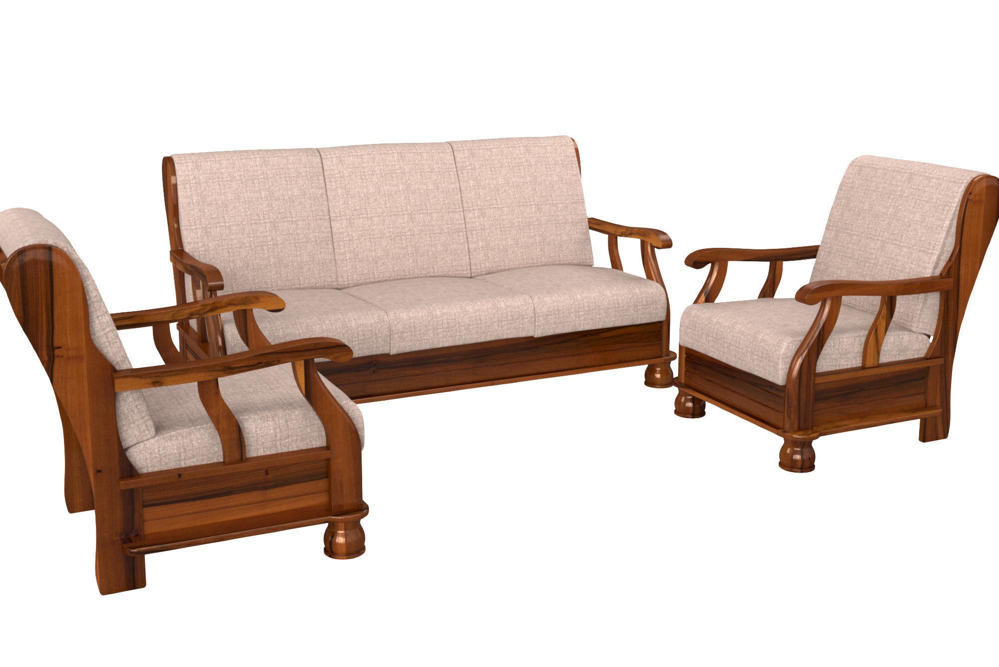3D RoyalOak furniture Zita sofa armchair set | CGTrader