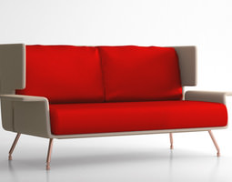 knoll aa sofa lounge collection  3d model max obj