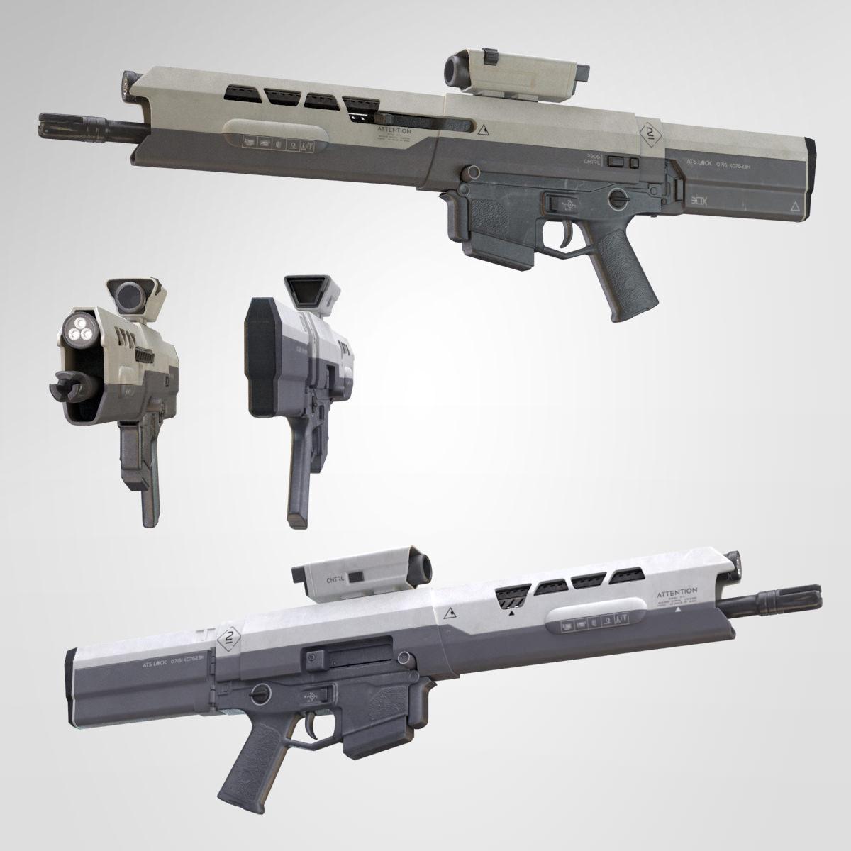 3d Gun Image 3d Home Architect: Oblivion Rifle 3D Model MAX OBJ FBX MA MB
