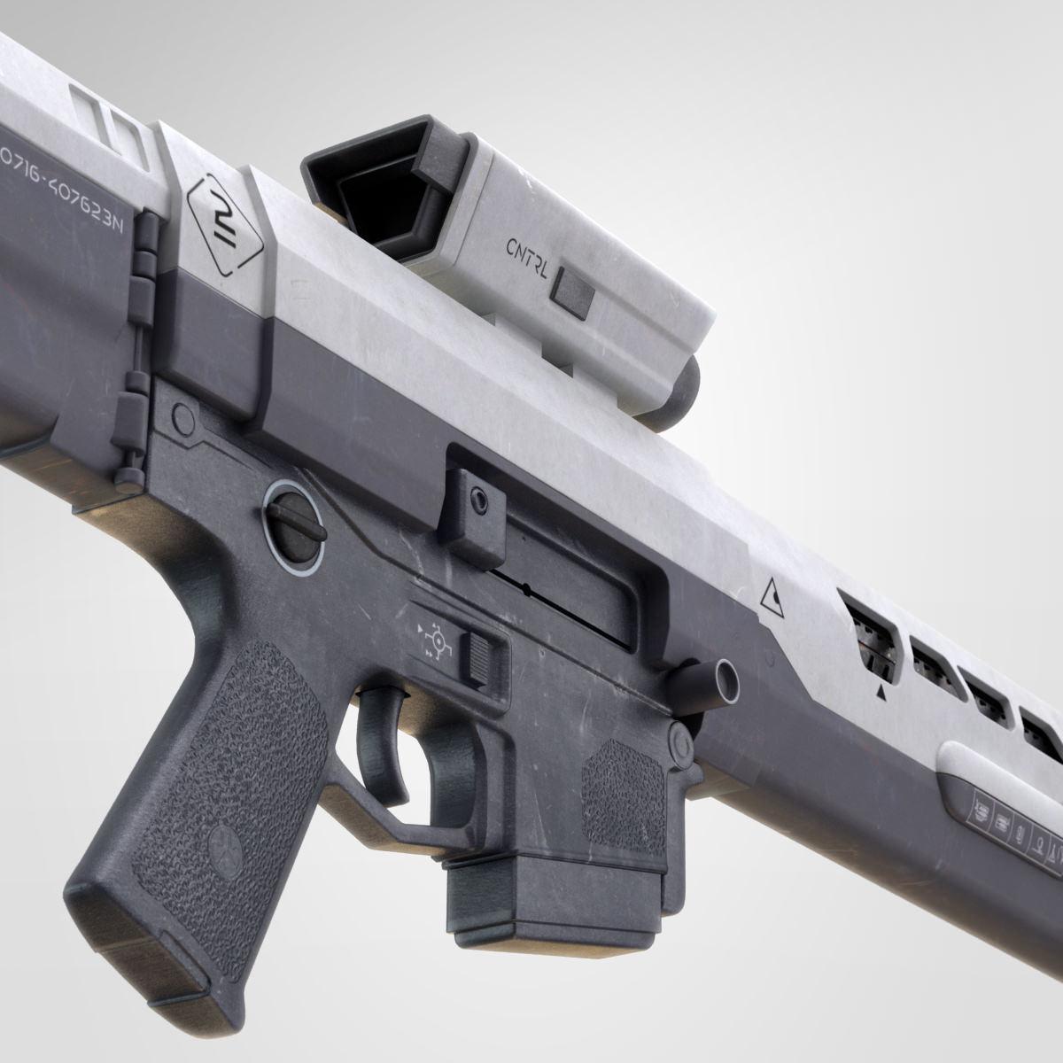 Oblivion Rifle 3D Model MAX OBJ FBX MA MB