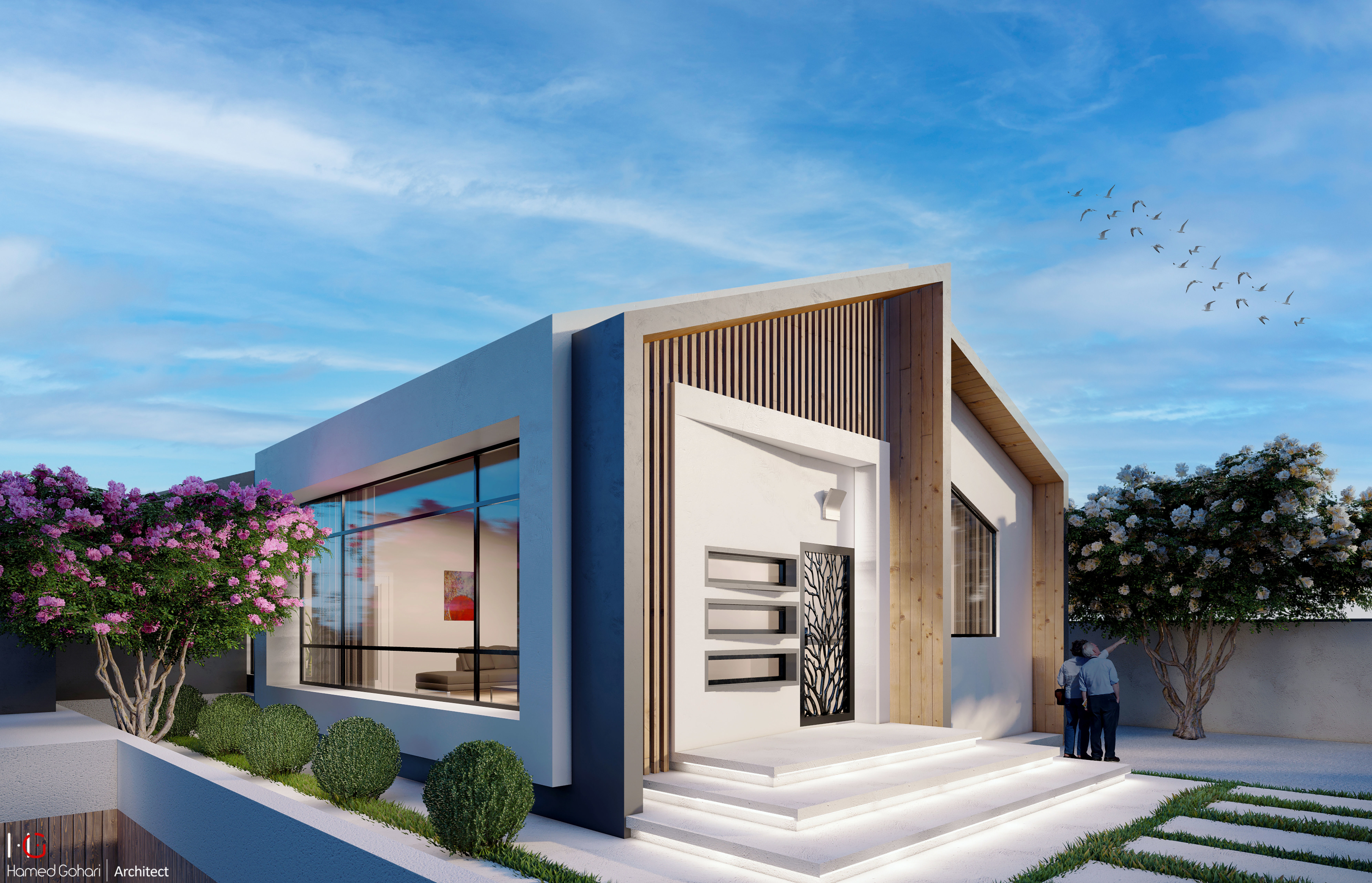 Modern style villa design