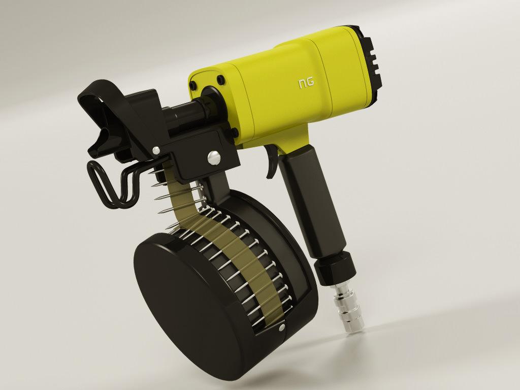 Nail gun 3d model cgtrader nail gun 3d model max obj 3ds fbx lwo lw lws 1 prinsesfo Images