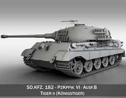 Panzerkampfwagen VI - Ausf B - King Tiger  3D Model