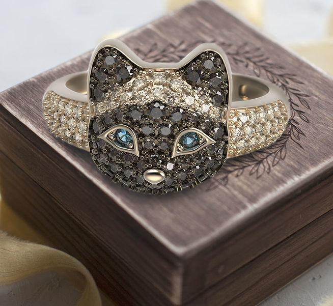 Siamese kitten ring