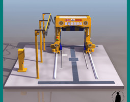 CAR WASH ROBOT 3D Model