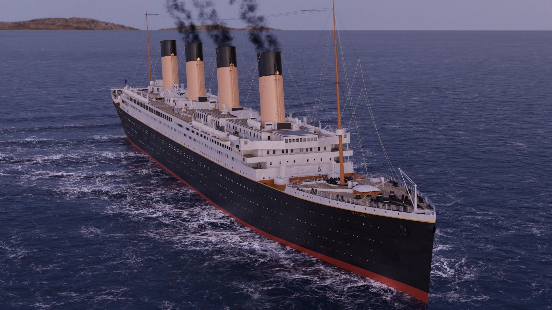 RMS Titanic Cinematic Filming Model
