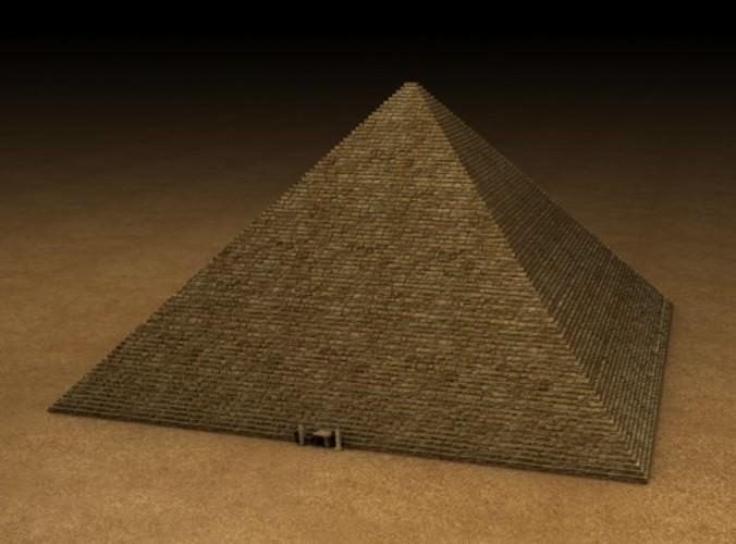 Egyptian Pyramid 3d Model Obj 3ds Fbx C4d Dxf