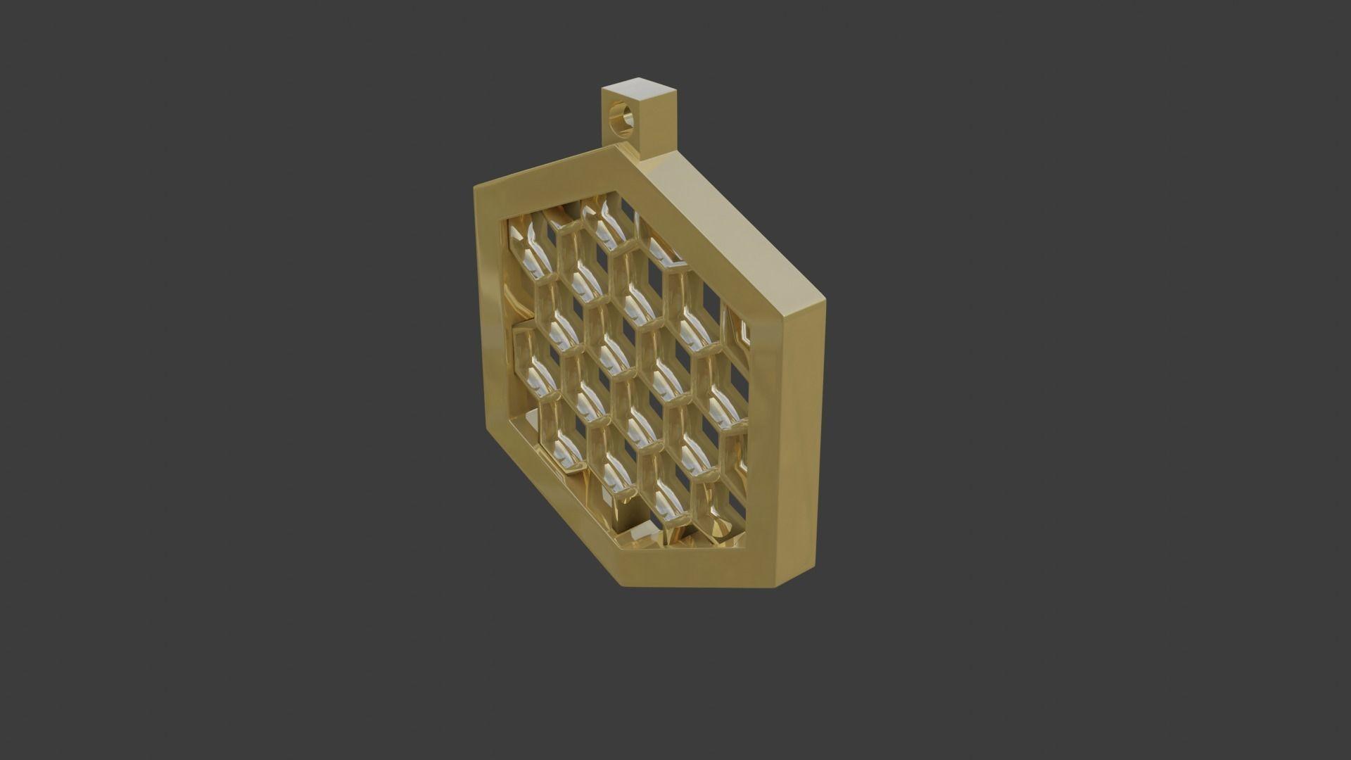 rgd honeycomb pendant