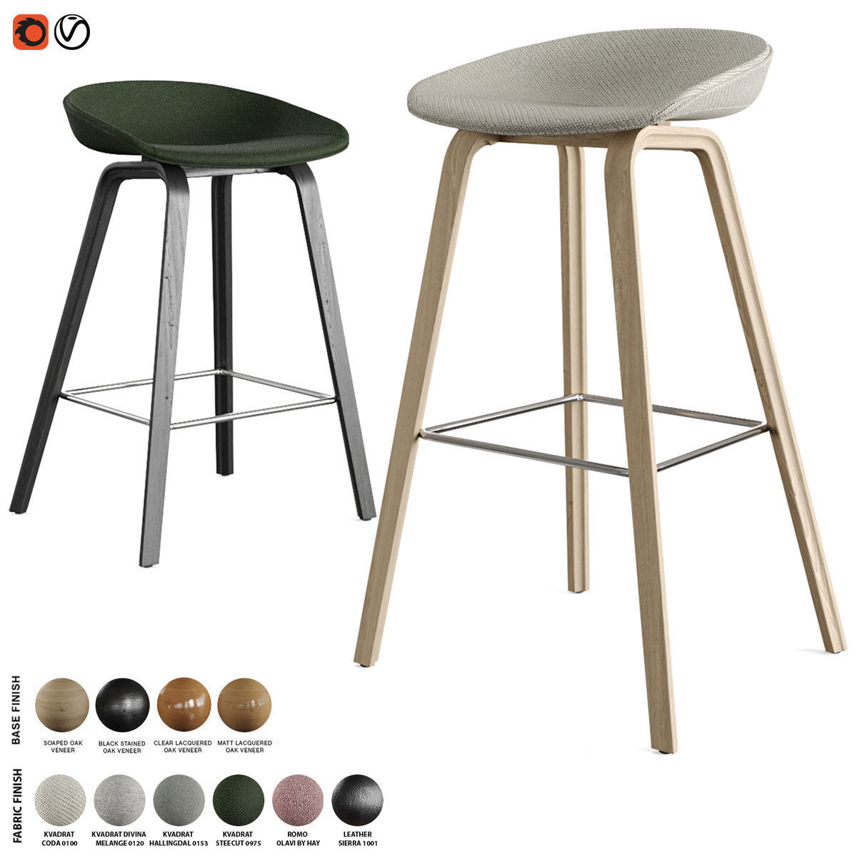Hay - About A Stool Barstool and Counter Stool AAS 33