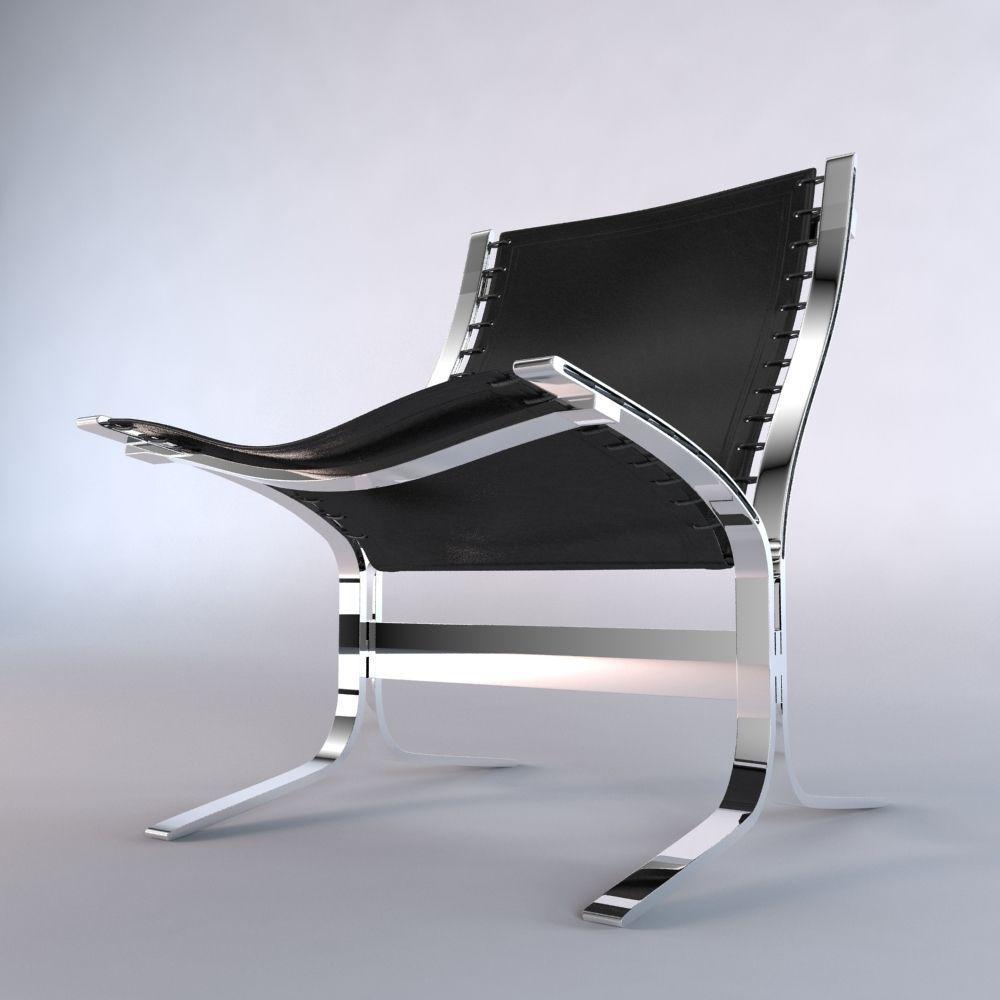 Restoration hardware 1950 s sling chair 3d model for Restoration hardware metal chair