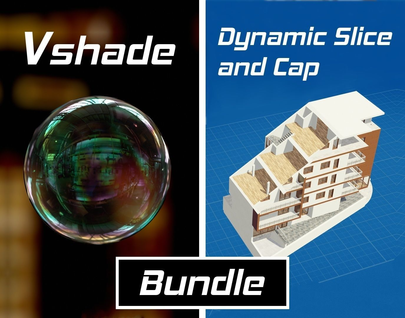 VSHADE and DYNAMIC SLICE AND CAP for Blender