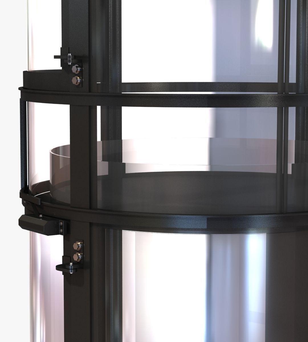 Small interior round elevator vision pne 3d model for Small elevators
