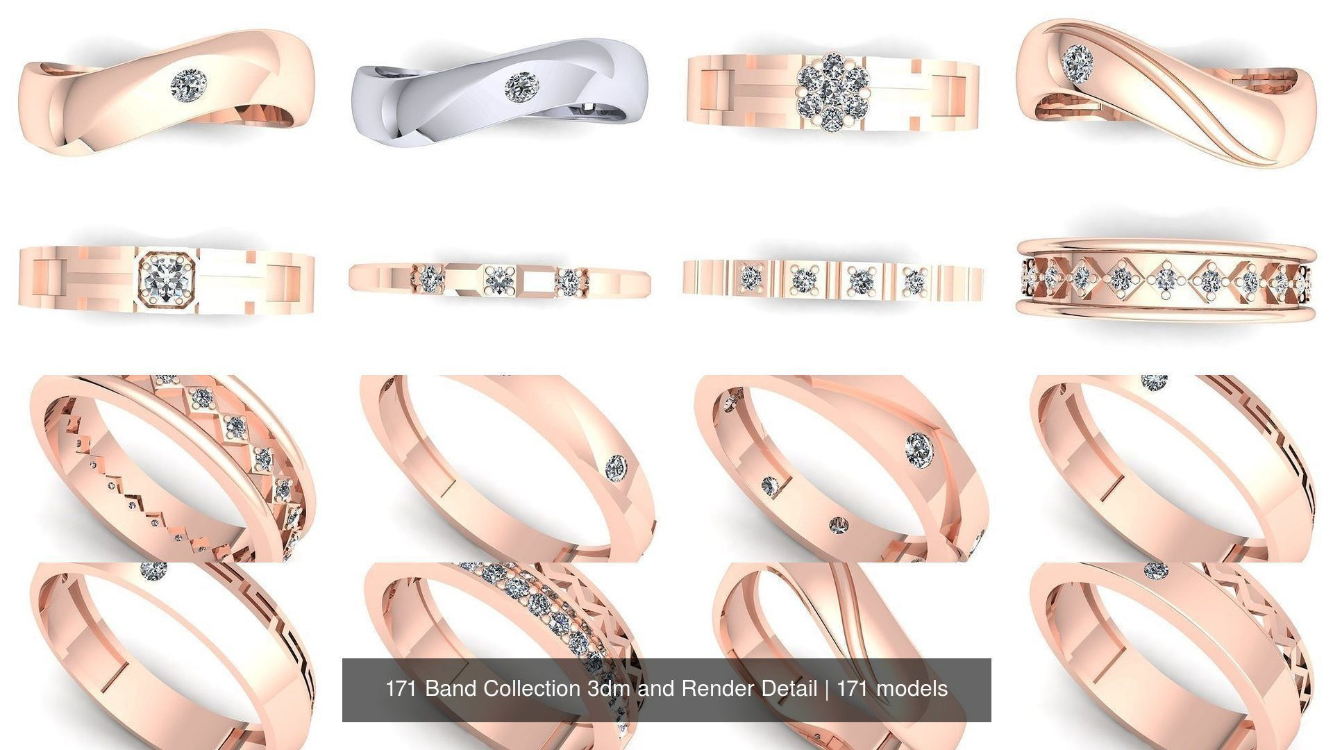 171 Band Collection 3dm and Render Detail