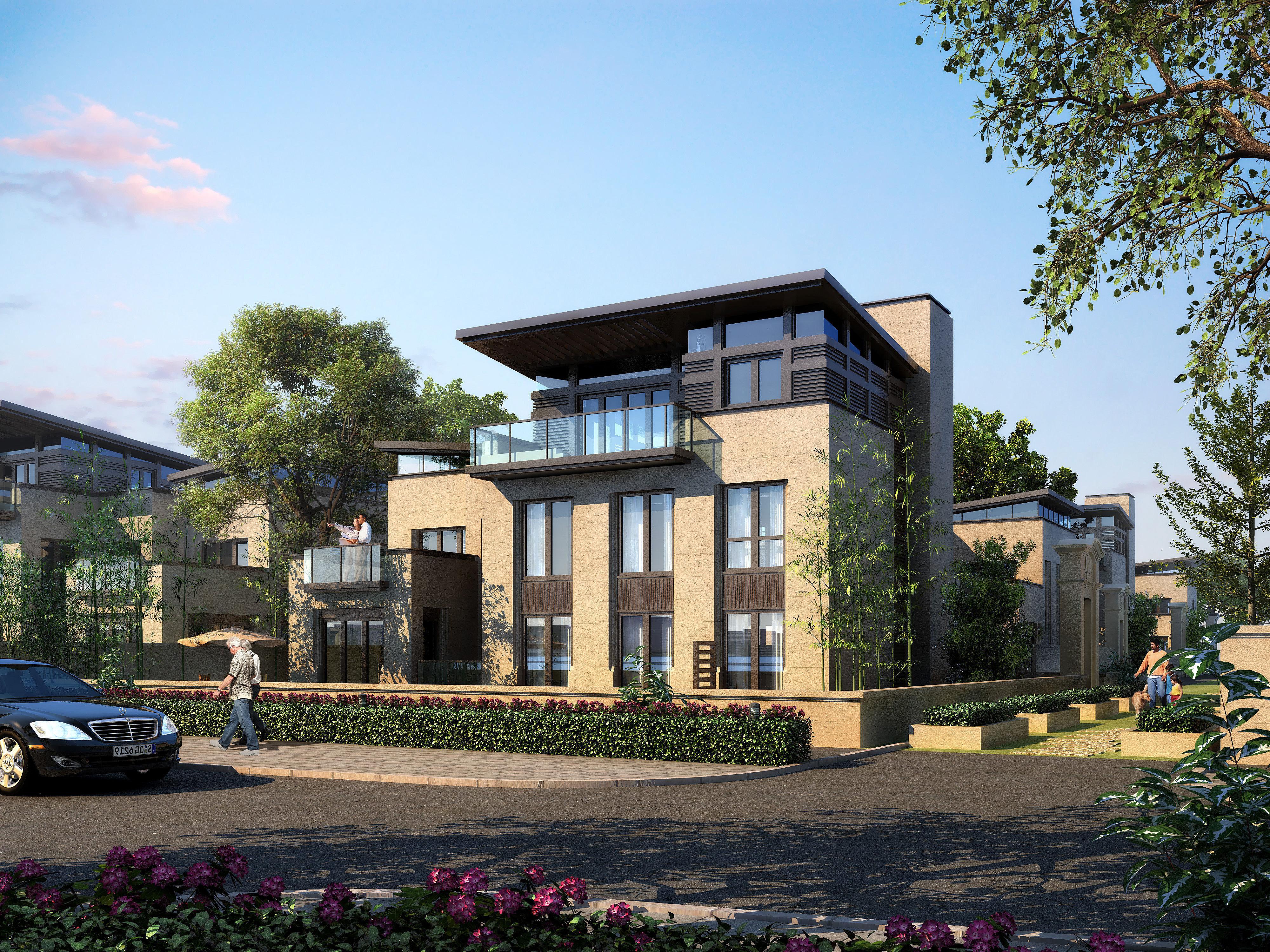 Modern Suburban Living House 3d Model Max