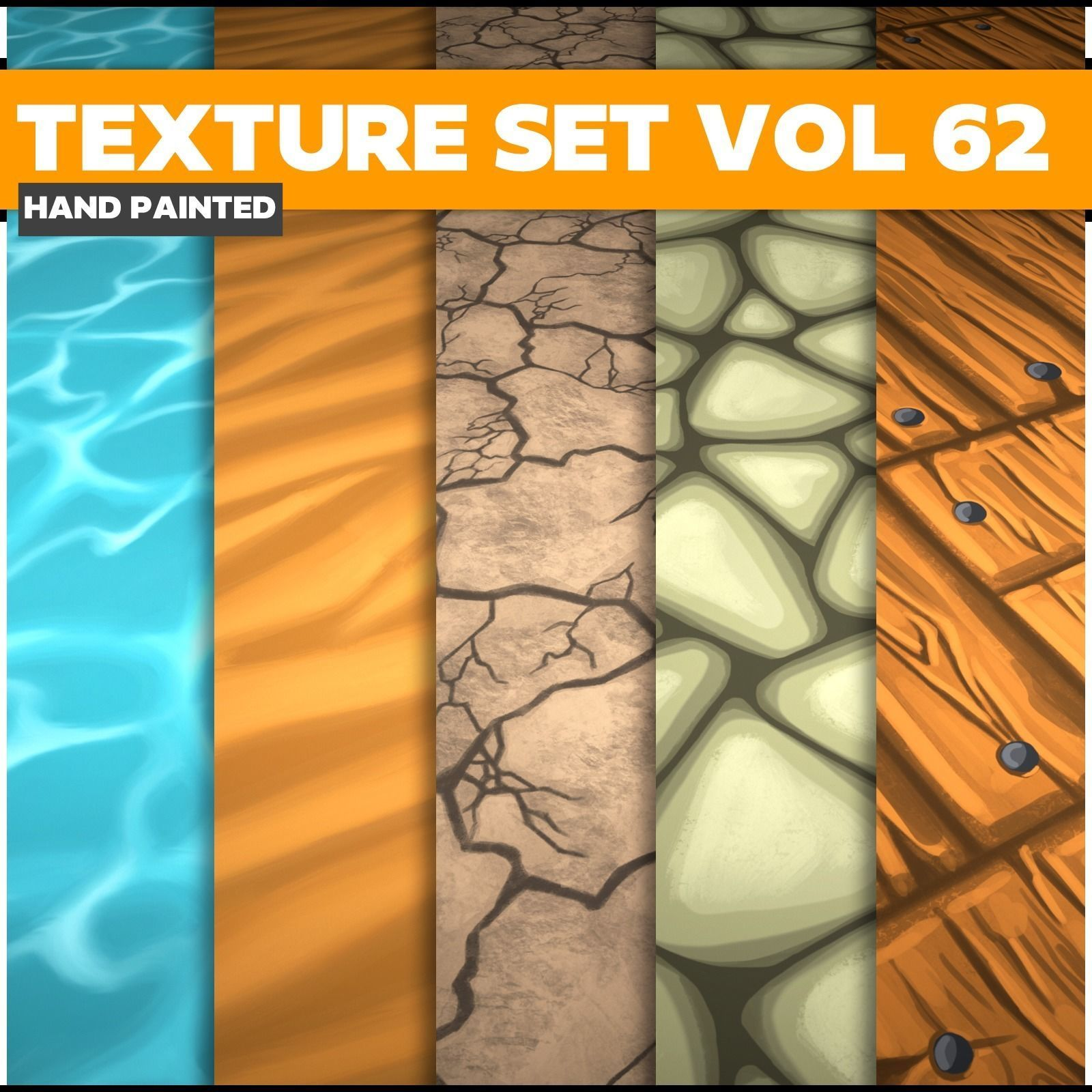 Terrain  Vol 62  - Game PBR Textures