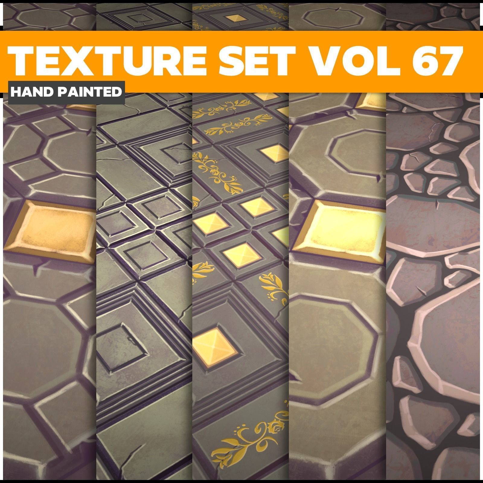 Tiles Vol 67 - Game PBR Textures