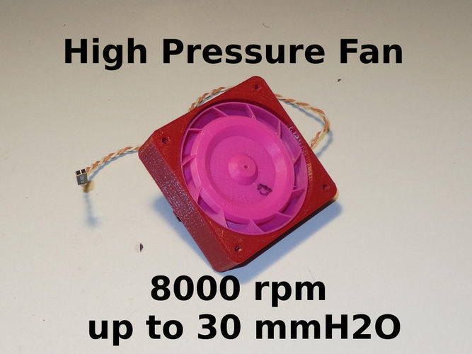 High pressure fan - RtA70kit - RC models and other