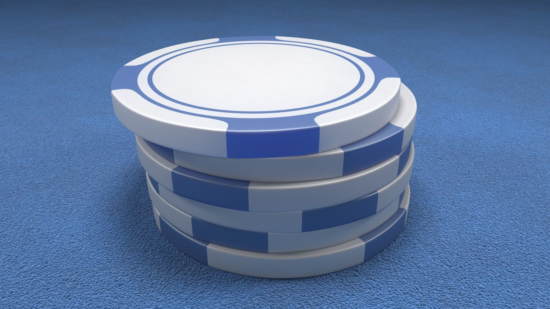 Poker Chips Blue and White