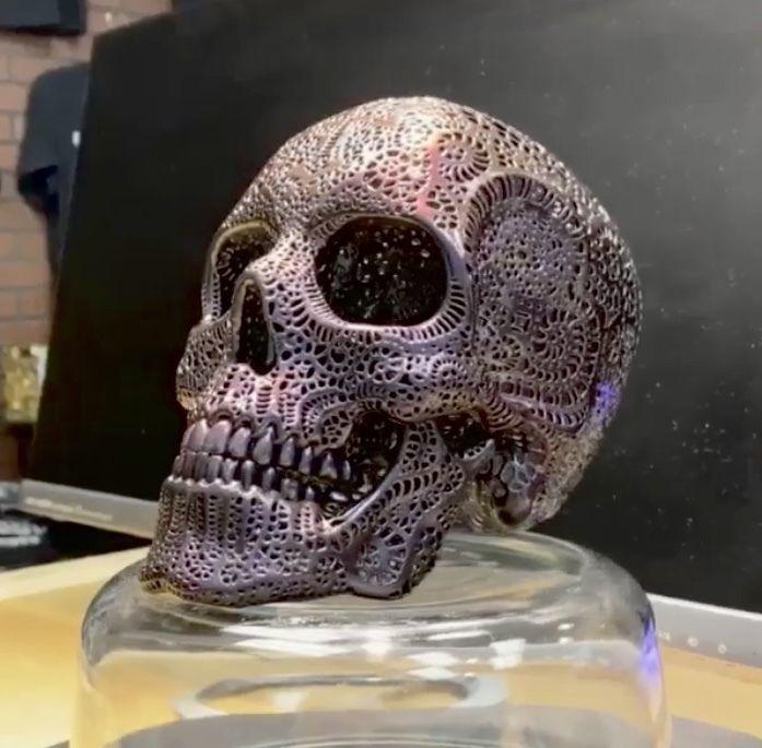 Filigree Anatomical Skull - Pre-supported STL