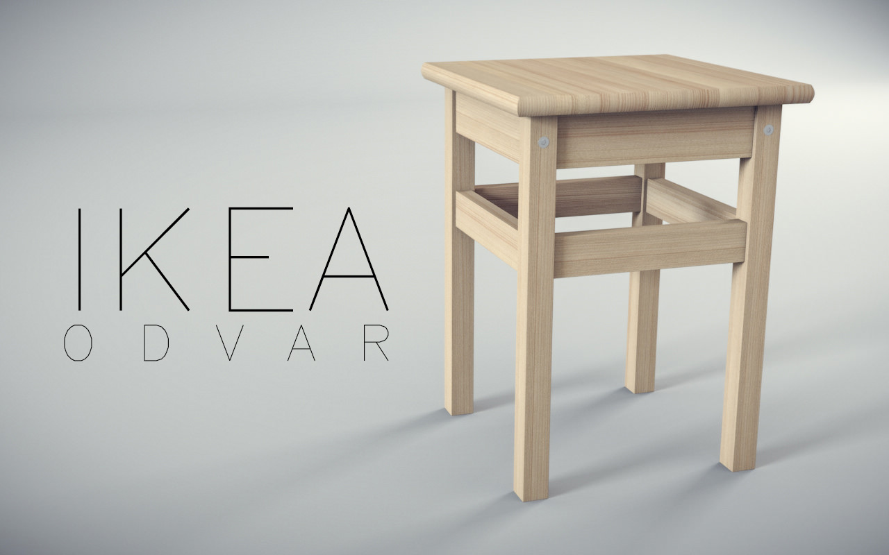 ikea odvar free 3d model max obj 3ds fbx c4d. Black Bedroom Furniture Sets. Home Design Ideas