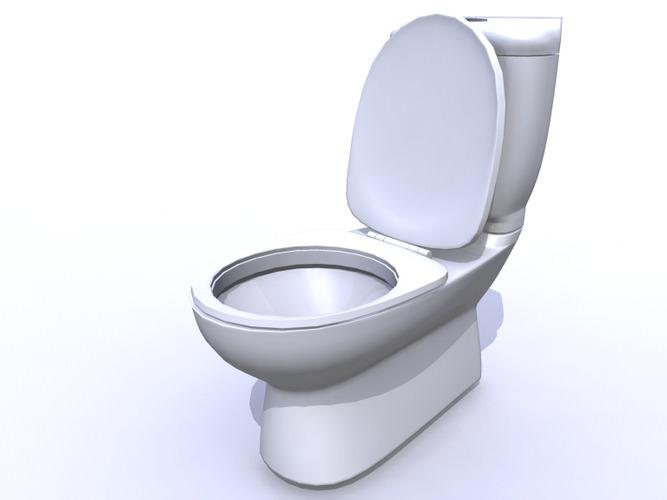 Toilet 3d model obj ma mb - Toilet model ...