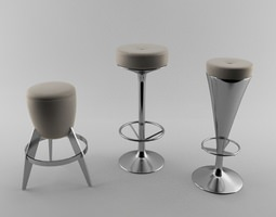 Bar stool collection 3D