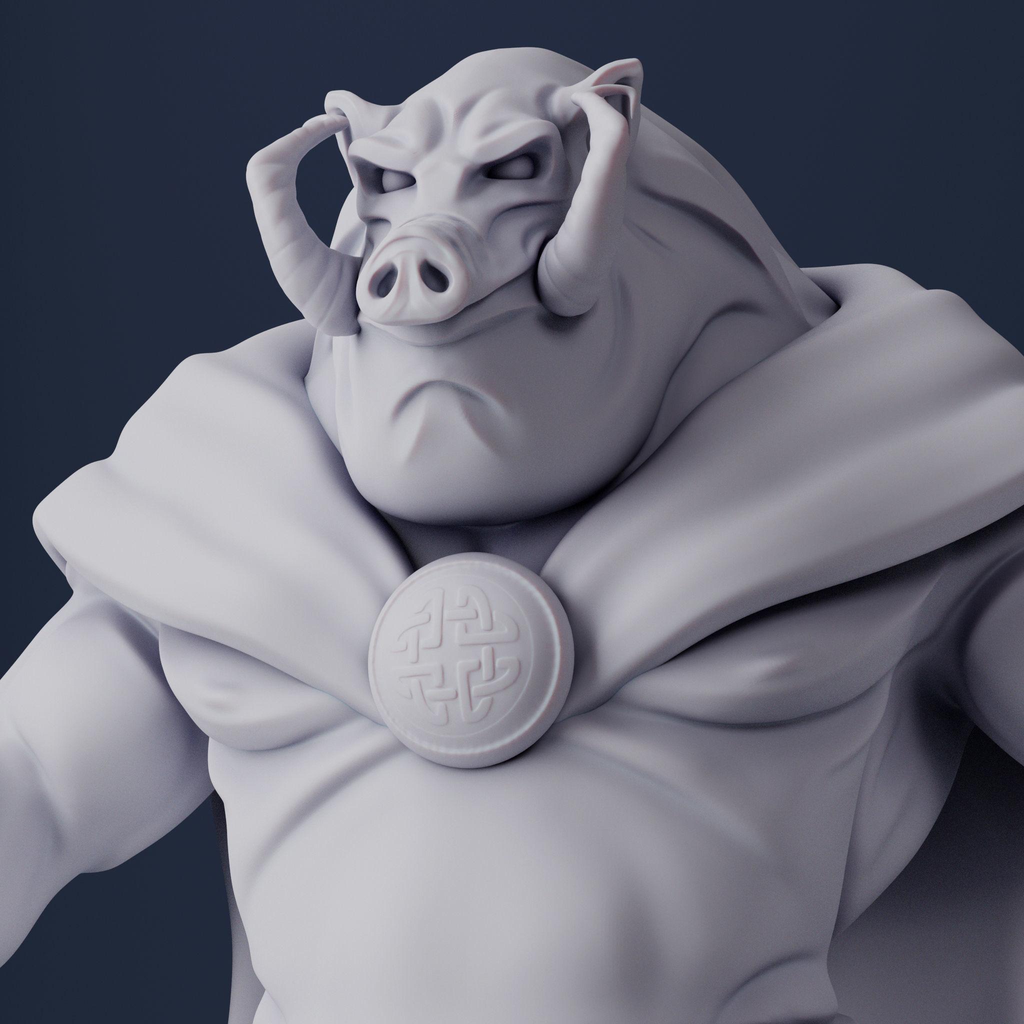 Aerosmith The Boar 3D Print Model