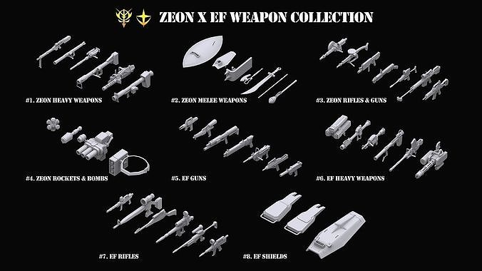 Gundam Zeon X Earth Federation Weapon Collection