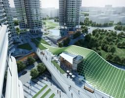 3D model Modern Urban Cityscape120